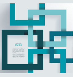 Abstract geometric shape from blue paper frames vector