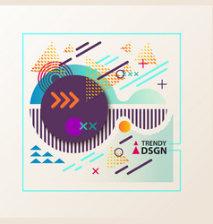 Abstract geometric shapes for modern design vector