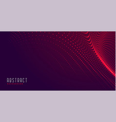Abstract particles background in red shades vector