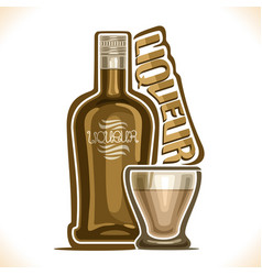 Alcohol drink liqueur vector