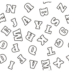 Alphabet seamless pattern letters vector image