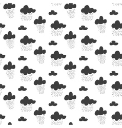 Baby seamless pattern Black fun rainy sky vector image