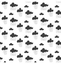 Baby seamless pattern Black fun rainy sky vector image vector image