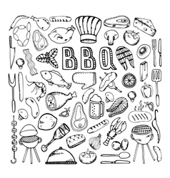 Barbecue grill party vector image