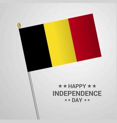 Belgium independence day typographic design with vector