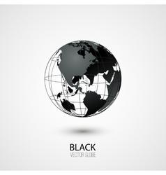 Black globe vector