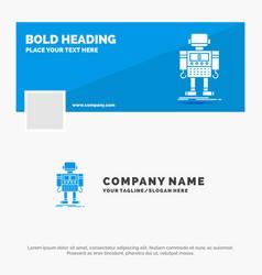 Blue business logo template for autonomous vector