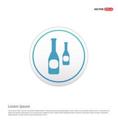 bottles icon - white circle button vector image