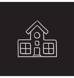 Building sketch icon vector image