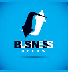 Business innovation logo boost up arrow graphic vector