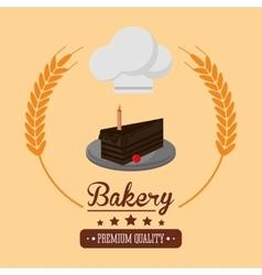 cake bakery related emblem image vector image
