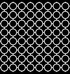 cellular seamless pattern with connected circles vector image