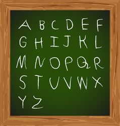 Chalk hand drawing alphabet design vector