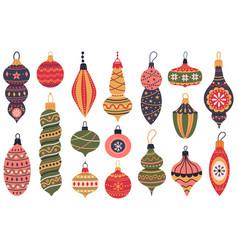 christmas tree toys xmas holidays decorations vector image