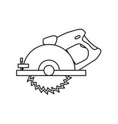 circular saw carpentry tool vector image