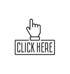 click here button vector image