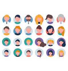 Collection people avatars vector