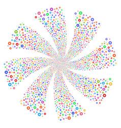 Create fireworks swirl flower vector