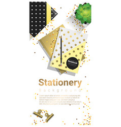 creative scene with stationery background vector image