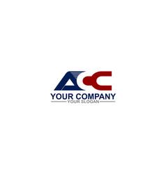 Creative simple modern strong initial acc logo vector