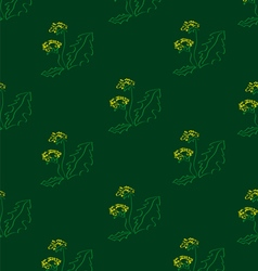 Dandelions on a green background vector
