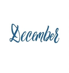 December Hand Drawn Calligraphy vector image