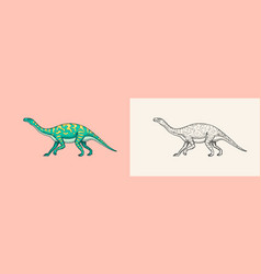 Dinosaurs brontosaurus apatosaurus brontosaurus vector