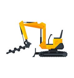 Drilling bulldozer truck construction machinery vector