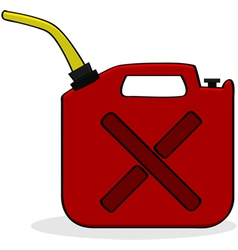 Emergency fuel supply vector image
