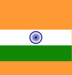 flag of india in national colors vector image