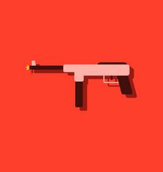 Flat icon design collection military machine gun vector