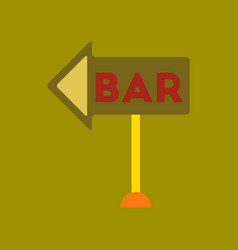 flat icon on background poker bar sign vector image