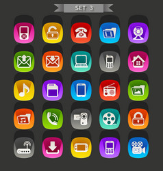 Flat icons-set 3 vector