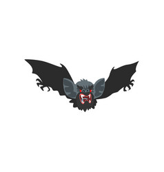 Flying vampire bat on a white vector