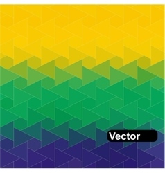 geometric background in Brazil flag vector image