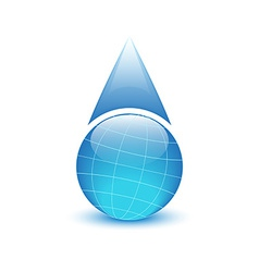 Globe in the form of drops of water environmental vector image