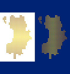 Golden dot koh tao thai island map vector