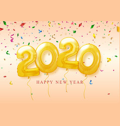 happy new year 2020 celebration festive vector image