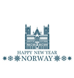 Happy New Year Norway vector