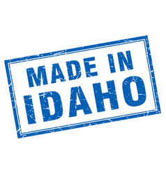Idaho blue square grunge made in stamp vector