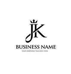jk crown letter vector image