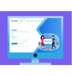 Login-screen vector
