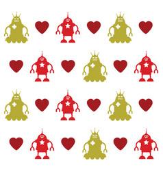 love robots texture vector image