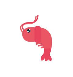 Marine life shrimp crustacean cartoon sea fauna vector