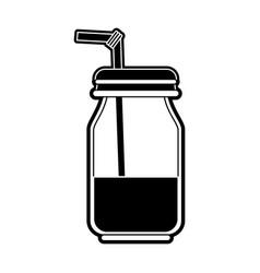mason jar drink vector image