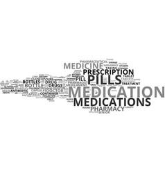 Medications word cloud concept vector