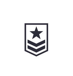 Military rank icon on white vector