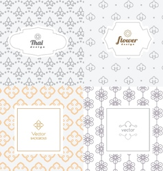 Mono line graphic design templates - labels vector