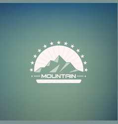 mountain lineart logo mountain hipster logo vector image