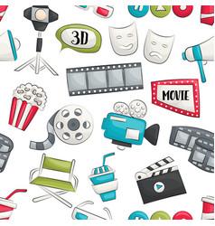 Movie cinema design seamless pattern vector